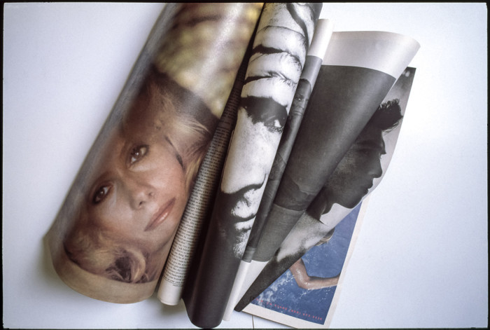 bring a magazine fold the pages shot done!